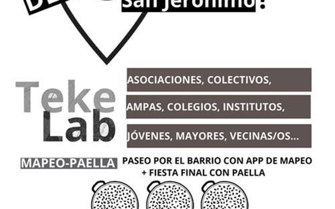 Seguimos! TekeLab Segundo Mapeo + Paella: sábado 9 de junio de 2018