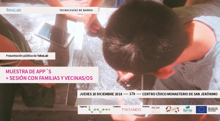 Presentación pública TekeLab: Muestra de app's + taller con familias y vecinas/os